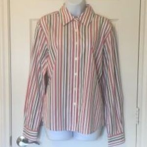 Faconnable Button Down Shirt _ Multi Color Stripe